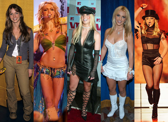 britney over the years