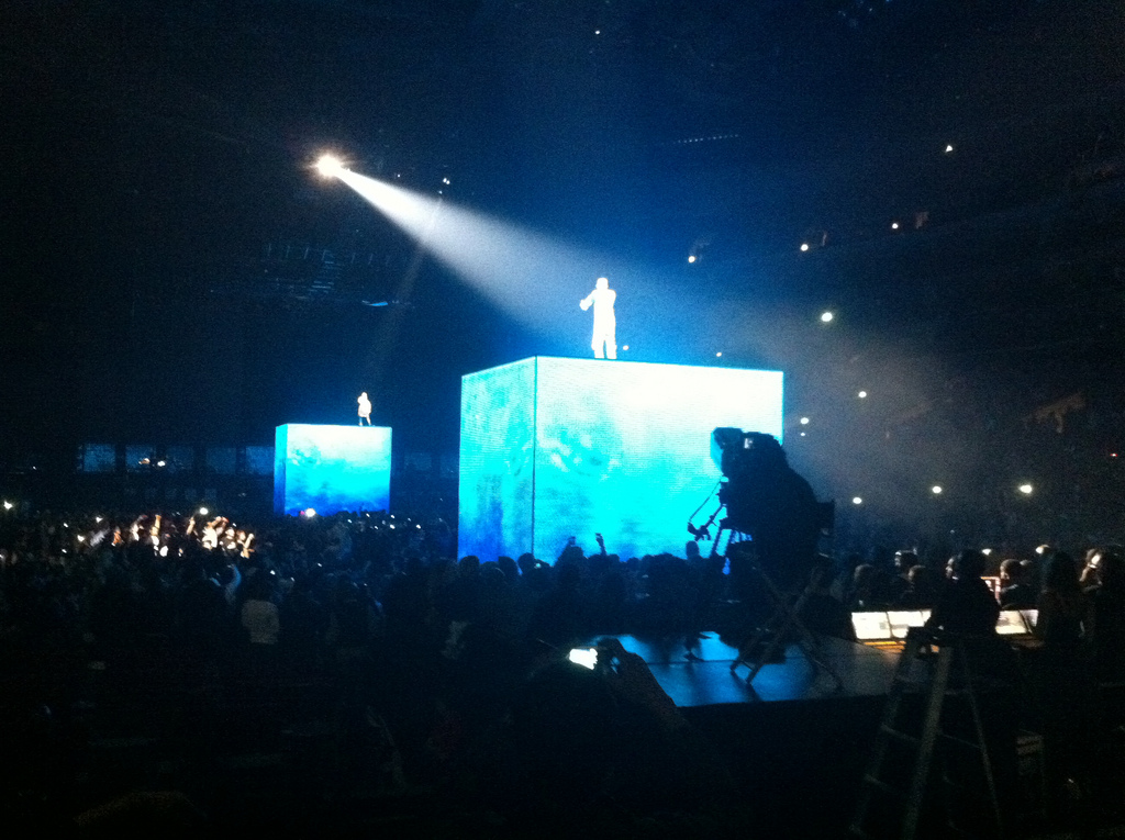 jay and kanye at staples
