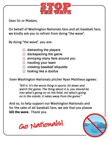the nationals the wave