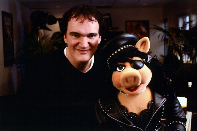 Quentin Tarantino and miss piggy