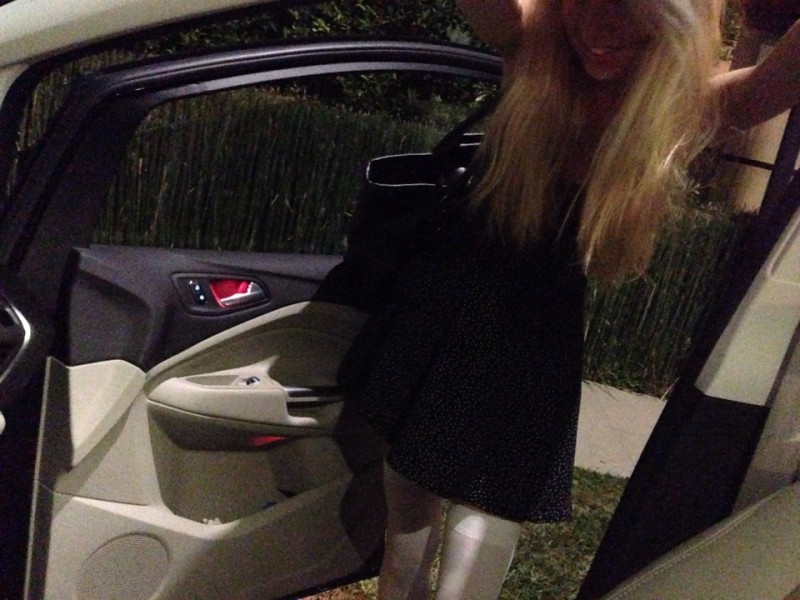 amber entering my car
