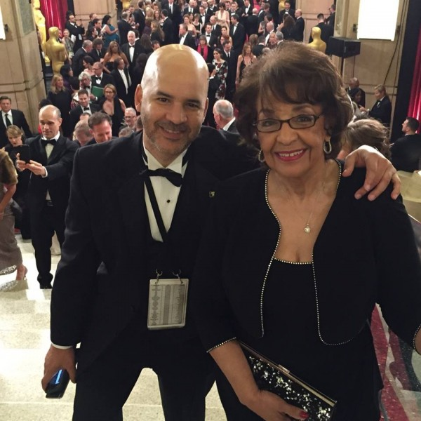 me and mom at the oscars