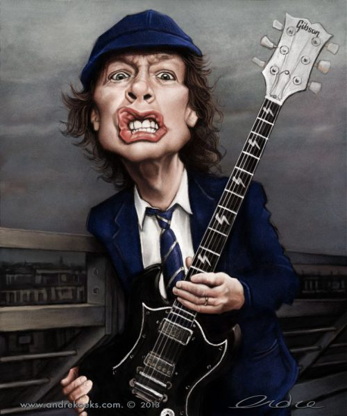 angus young caricature